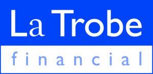 La Trobe logo blue keyline CMYK
